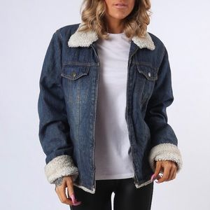 Steve & Barry's Sherpa & Denim Jean Jacket Medium